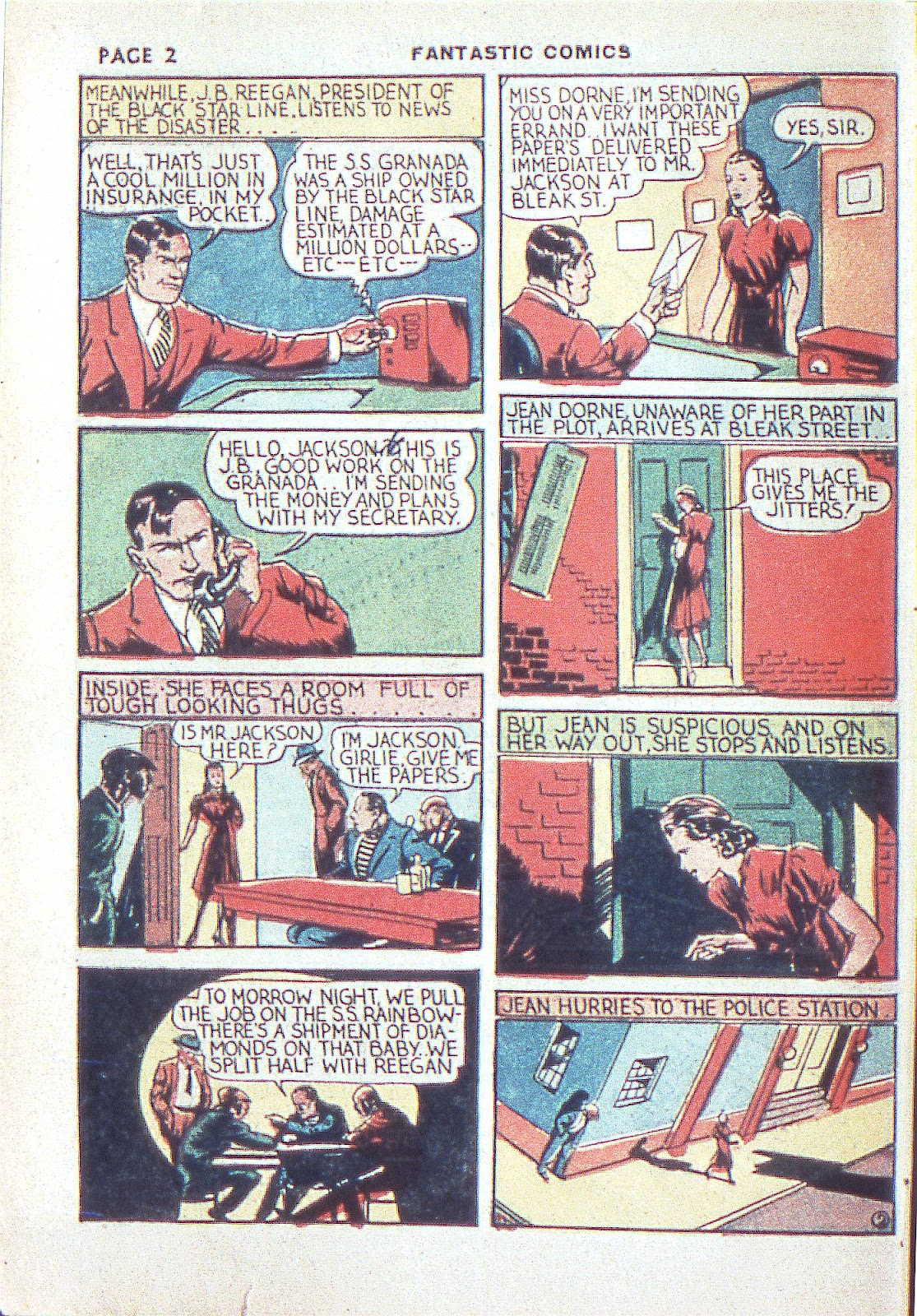Read online Fantastic Comics comic -  Issue #3 - 5