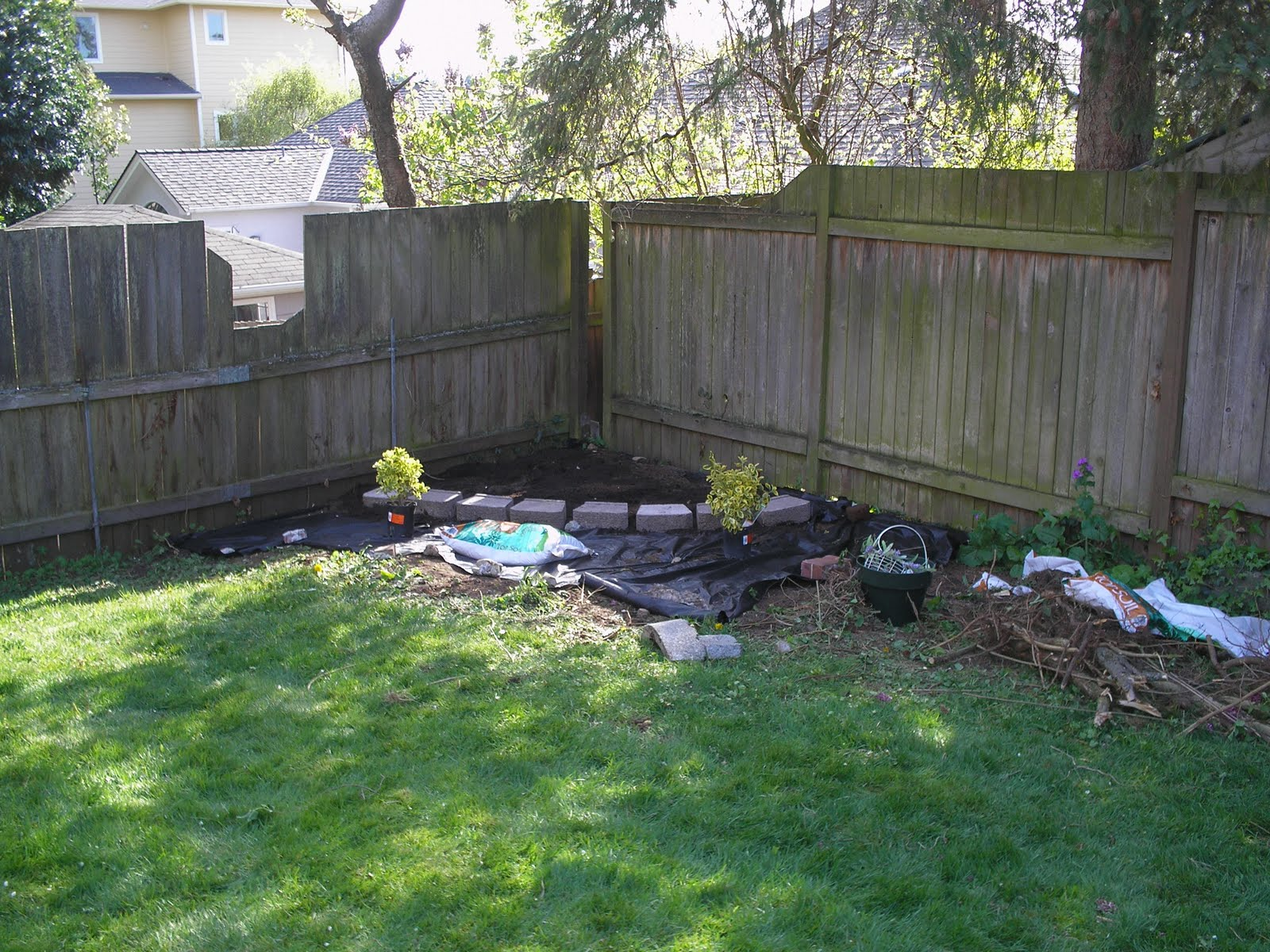 Backyard Corner Garden Ideas Photograph Corner Lot Landsca