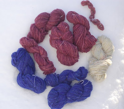 Yarn spun and washed in January, so far