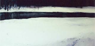 Cuadro y pintura de Francisco Solano Jiménez, óleo sobre lienzo titulado Winter landscape IV