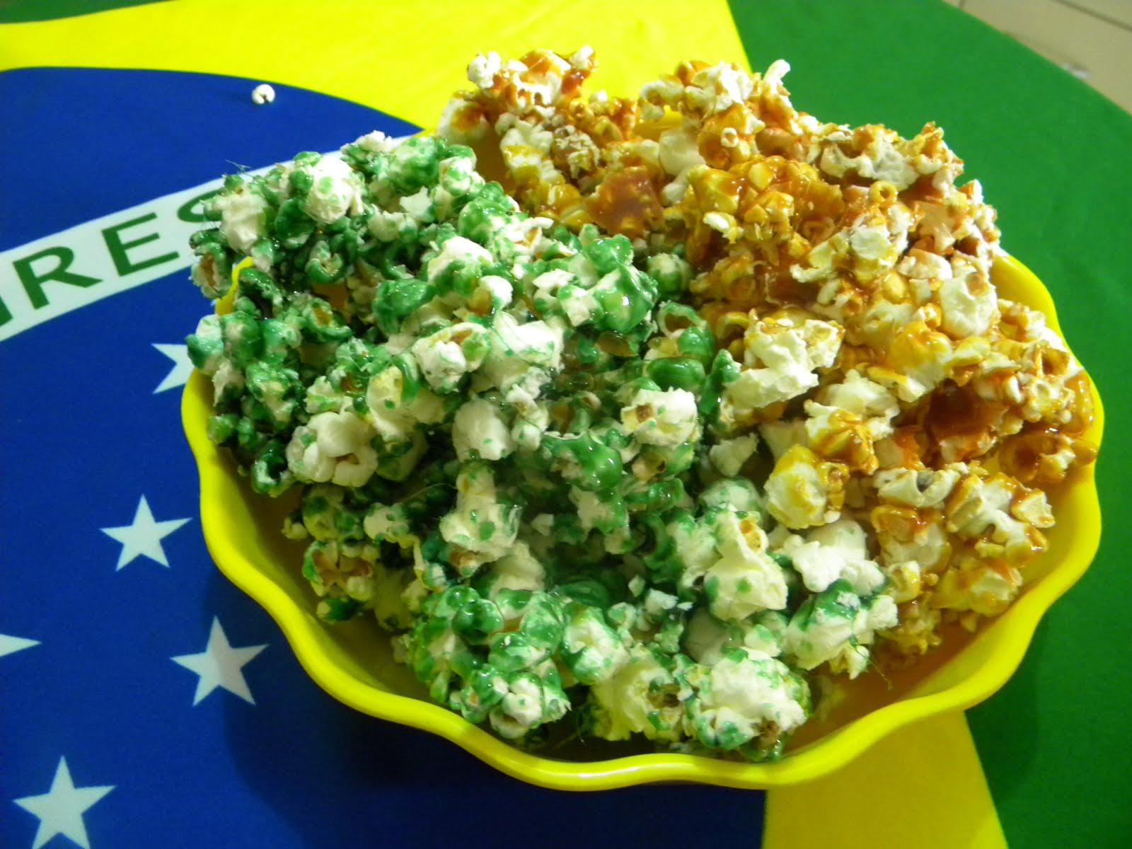 81eb778ad72de7 Pipoca Caramelizada Verde e Amarela - É Hexa!!! | Aqui na Cozinha