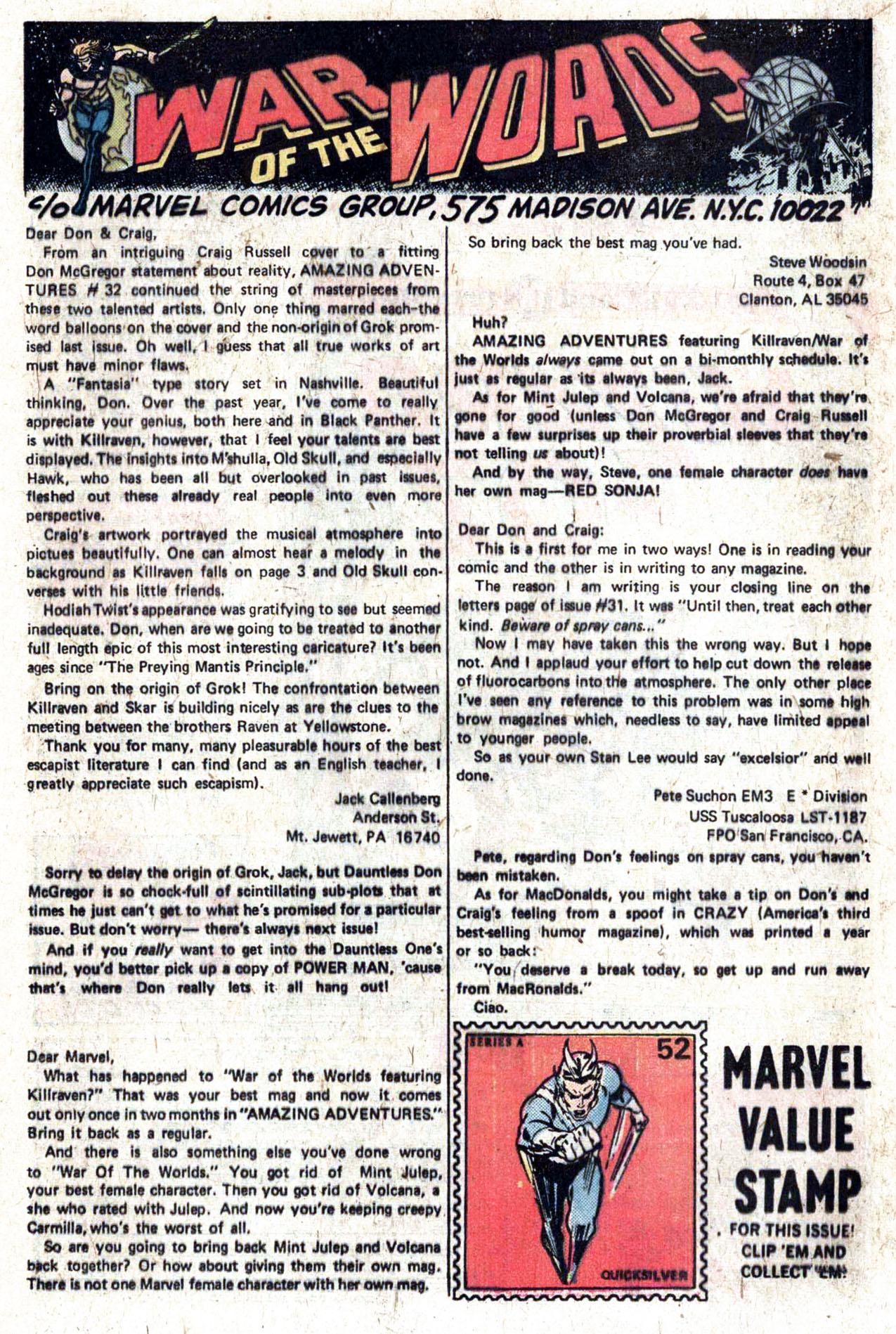Read online Amazing Adventures (1970) comic -  Issue #33 - 20