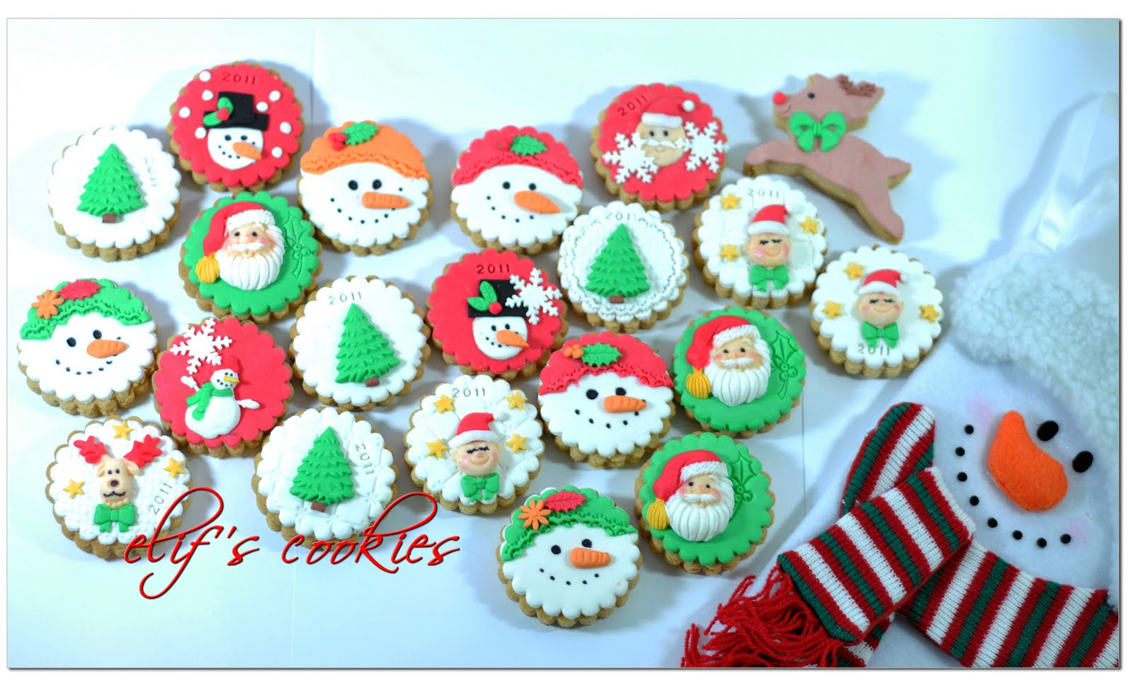 Round Christmas Cookie Decorating Ideas  sc 1 st  Elitflat & Round Cookie Decorating Ideas - Elitflat