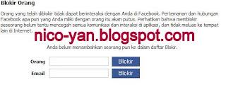 Memblokir orang di Facebook