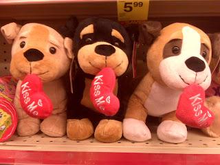 Valentine's Day plush puppies, Gramercy Park, NYC