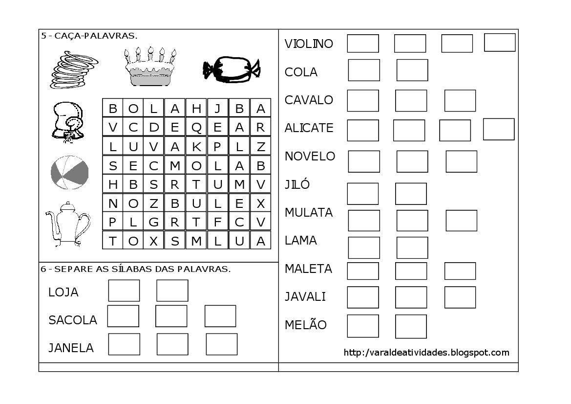 VARAL DE ATIVIDADES: LETRA L