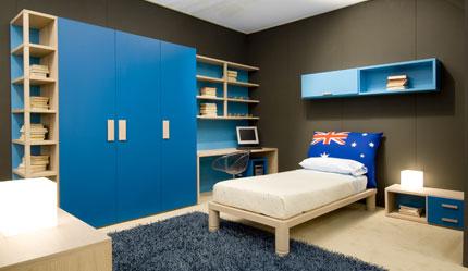 Dormitorio en tonos azules by - Habitaciones infantiles azules ...