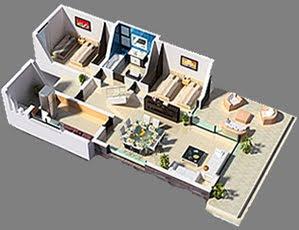 Planos 3d casa 3 dormitorios vivienda moderna planos de for Stima del costo del garage gratuita
