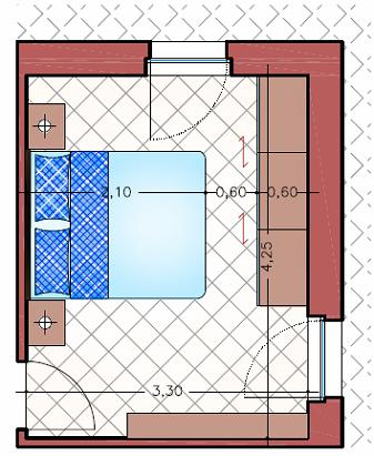 Minimas dimensiones para dormitorios matrimoniales for Medidas de cama matrimonial y king size