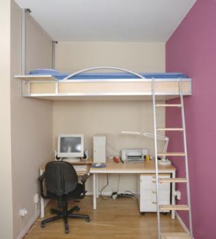 Dormitorios muy peque os como decorar una habitacion muy - Habitaciones en espacios reducidos ...