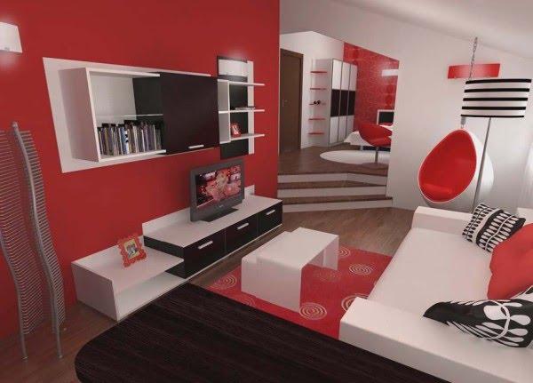 Dormitorio en 3d dormitorio con sala de estar for Recamaras blancas modernas