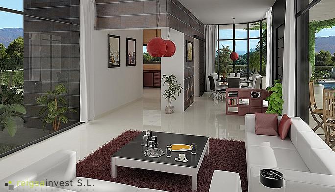 Plano 3d de casa de una sola planta planos de casas for Maquetas de apartamentos modernos