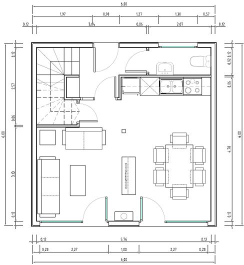 Planos de casas economicas casa cubo 72m2 6x6 qubichouse for Planos para remodelar mi casa