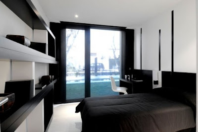 Dormitorios minimalistas blanco y negro via www for Dormitorio para padres en blanco y negro