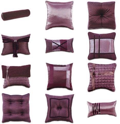 Cojines en la cama y dormitorios lujosos con muchas for Hacer cojines para sillas