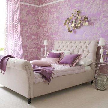 Dormitorios morados dormitorios lilas dormitorios violeta - Habitacion lila y blanca ...
