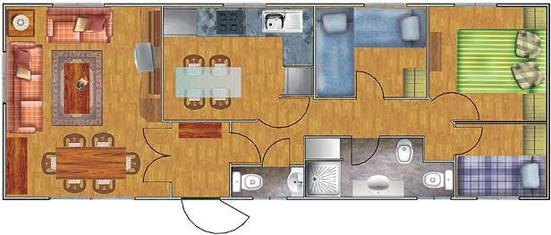 Planos de casas de 52 60m2 con 3 dormitorios planos de for Planos de cocinas de 15 metros cuadrados