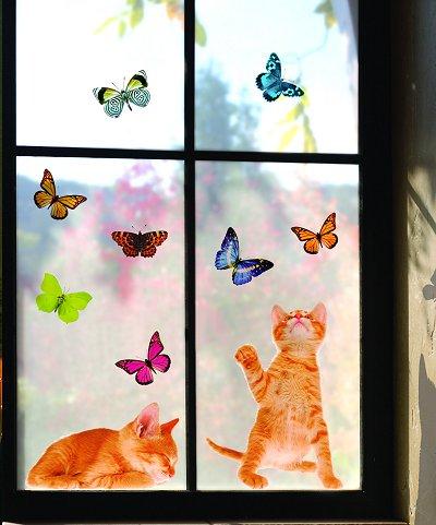 Dormitorios con mariposas for Calcomanias para decorar habitaciones