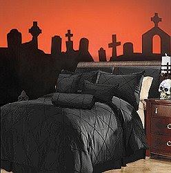 Dormitorios goticos negro recamara gotica y decoracion for Dormitorio oscuro