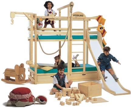 Medidas de seguridad para dormitorios infantiles con - Literas infantiles con tobogan ...