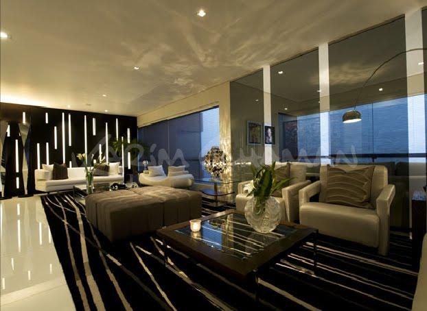 Apartement design sala moderna elegante y lujosa con - Fotos de comedor ...