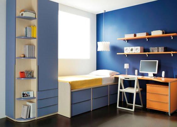 Muebles para dormitorios juveniles infantiles - Habitaciones infantiles dobles poco espacio ...