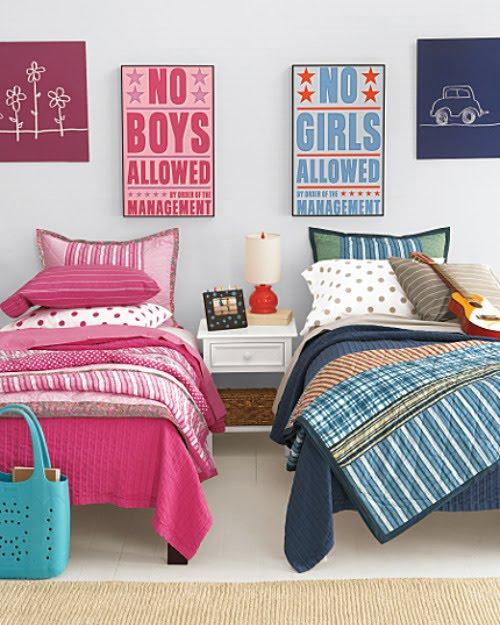 Dormitorios para ni o y ni a for Cuartos de ninas rosados