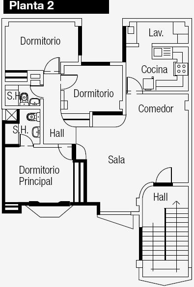 Planos de vivienda con departamento independiente en la for Planos de cocina y lavanderia