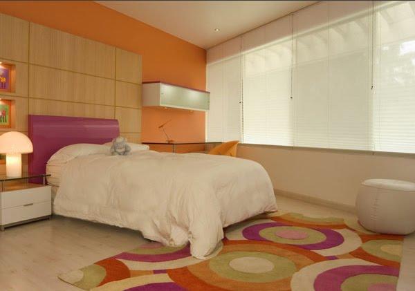 Dormitorio juvenil de karim chaman - Habitaciones color naranja ...