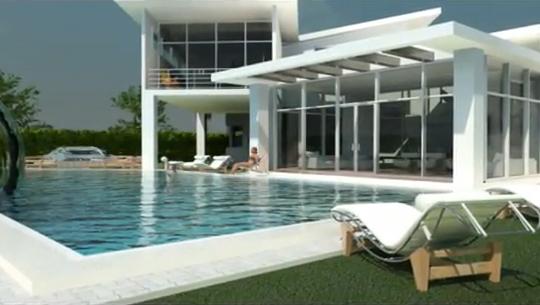Fachadas 3d de casa minimalista fachadas de casas y for Diseno de casas 3d online