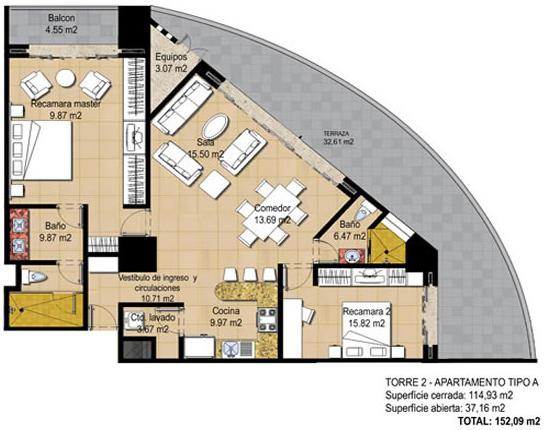 Plano en forma de arco planos de edificio cilindrico for Edificio de departamentos planos