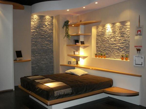 Piedras en el dormitorio - Paredes de habitaciones ...