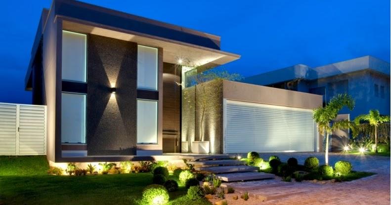 Fachadas bonitas y modernas casa alphaville fachadas for Fachadas exteriores de casas modernas