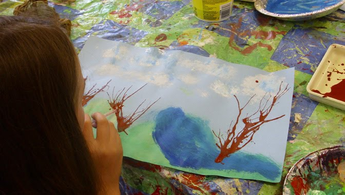 Childrens Wall Art: Childrens Wall Art: Themed Canvas ... |Easy Landscape Paintings For Kids
