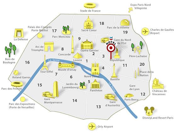 Paris Metro Map With Monuments.Paris Metro Rori Duboff