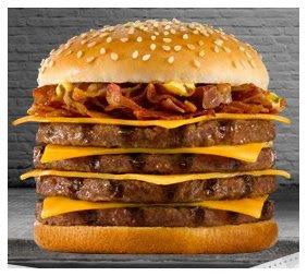 calorias de una hamburguesa de burguer king