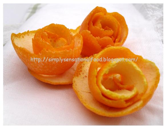 simply.food: Orange Flowers- Fruit and Vegetable carving
