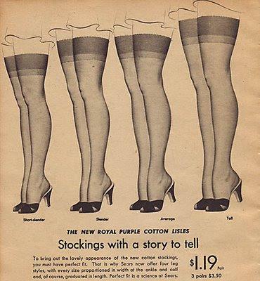 vintage diy seamed stockings tutorial