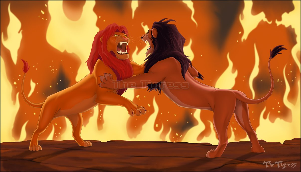 The battle between good and evil in the lion king