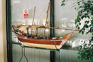 Model of Arab Dhow in UAE Cultural Foundation