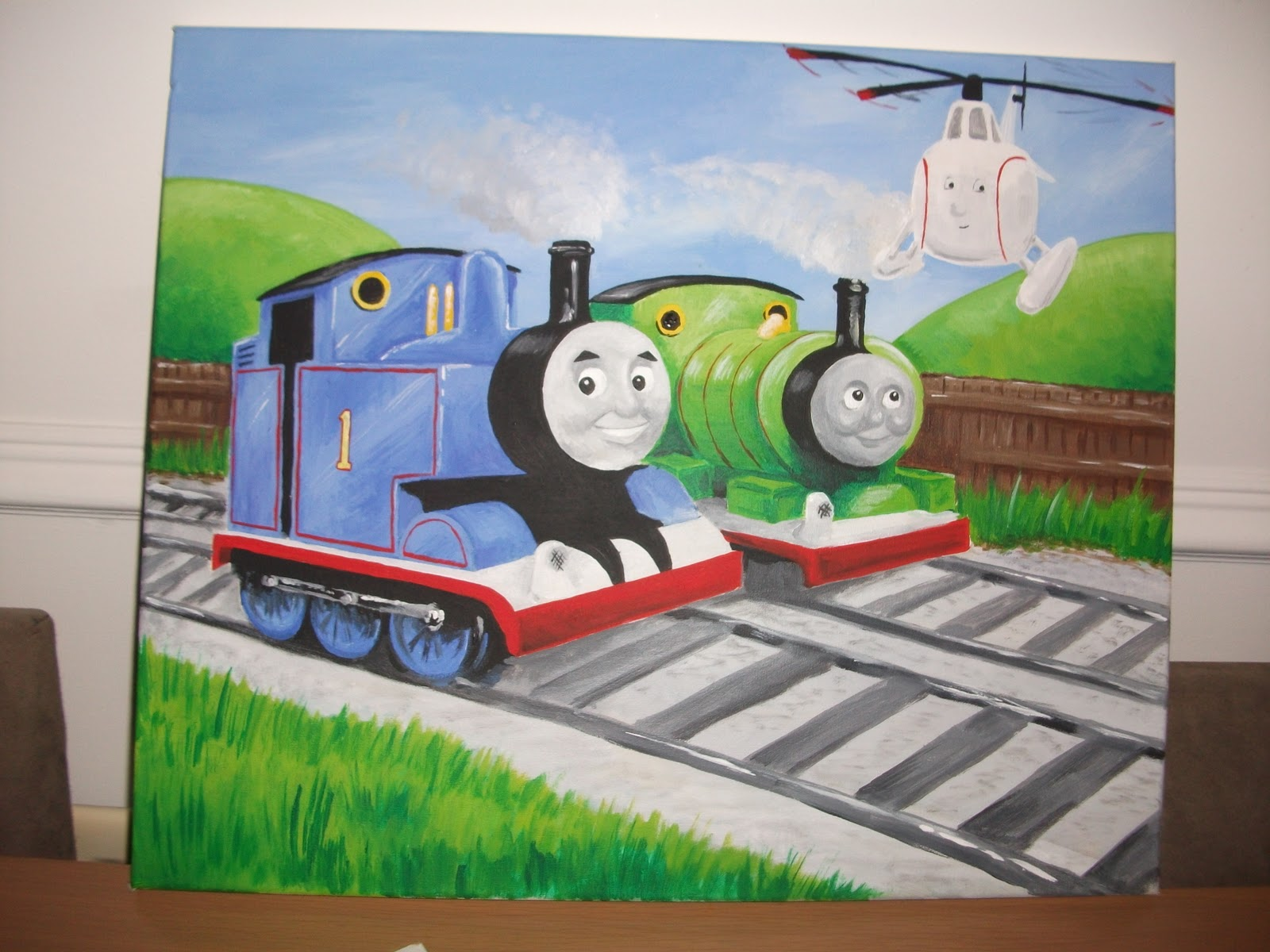 Paintings By Richard Paget Thomas The Tank Engine Percy