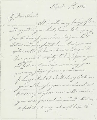 A long time ago!: 1836 Love Letter: