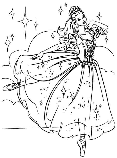 BARBIE COLORING PAGES: BALLERINA BARBIE COLORING SHEET
