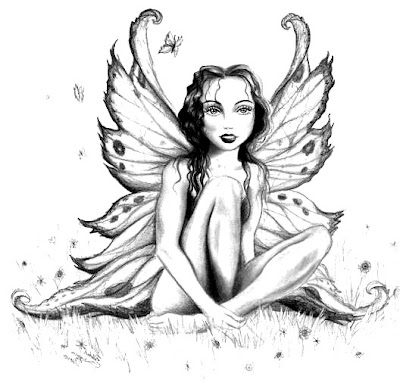 fantasy realistic fairy coloring pages - photo#16
