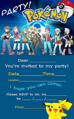 pokemon+birthday+invitation POKEMON FREE PARTY INVITATIONS