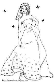 barbie coloring pages full size - photo#30