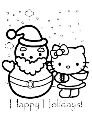 hello kitty christmas coloring pages | Interactive Magazine: HELLO KITTY CHRISTMAS COLORING SHEETS