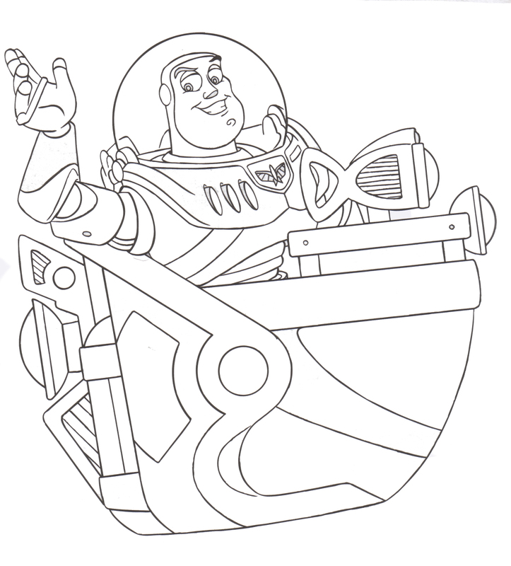 BUZZ LIGHT YEAR COLORING PAGES