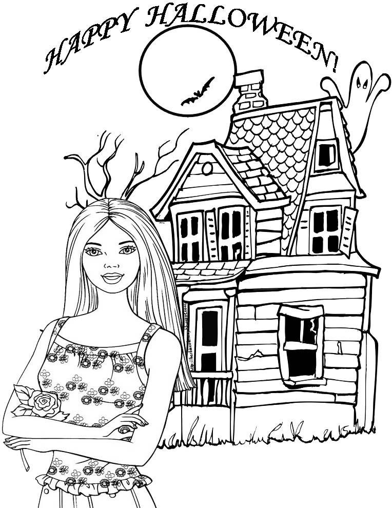BARBIE COLORING PAGES: HAPPY HALLOWEEN BARBIE PRINTABLE ...
