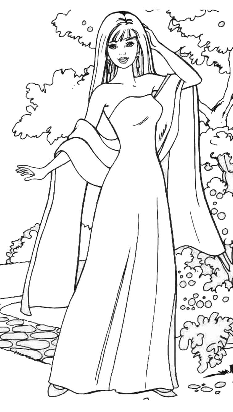 BARBIE COLORING PAGES: TWO MORE COLORING PICTURES OF BARBIE